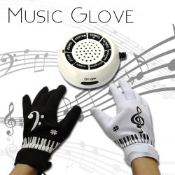 Funny Electronic Piano Music Gloves Musical Finger Sensitve For Party
