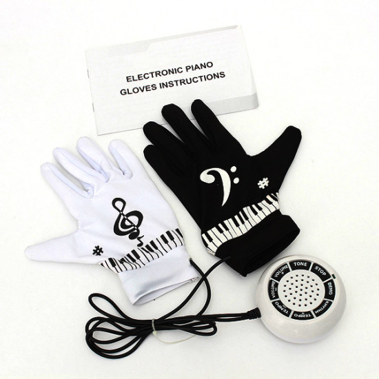 Funny Electronic Piano Music Gloves Musical Finger Sensitve For Party 2021