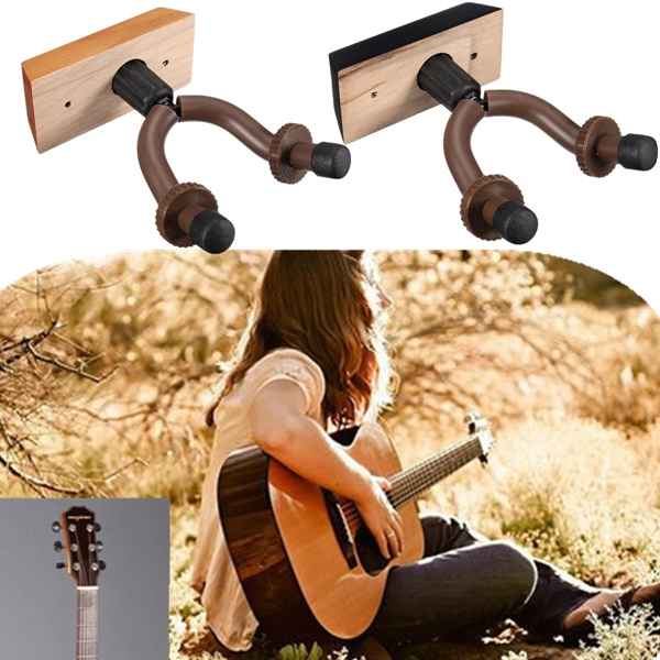 Guitar Hanger Hook Holder Wall Mount Display For Guitars Bass Violin Musical Instruments