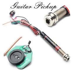 Guitar Pickup 6.35mm End-pin Jack Volume Control For Guitar Ukulele