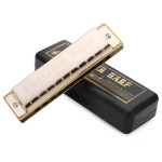 Huang 105 Key Of C 10 Hole Senior Play Blues Harmonica Musical Instruments