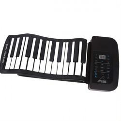 KONIX 61 Key MIDI Keyboard Portable Electronic Roll Up Piano PA61