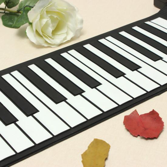 KONIX 61 Keys Flexible Roll Up Electronic Soft Keyboard Piano Portable 2021