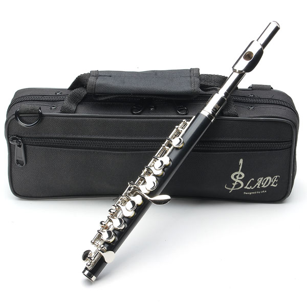 LADE ABS Pipe Silver C Tone Piccolo with Cloth Case Musical Instruments