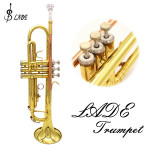 LADE Bb Copper Golden Trumpet Brass Band With Glove Brush Clean Cloth Musical Instruments