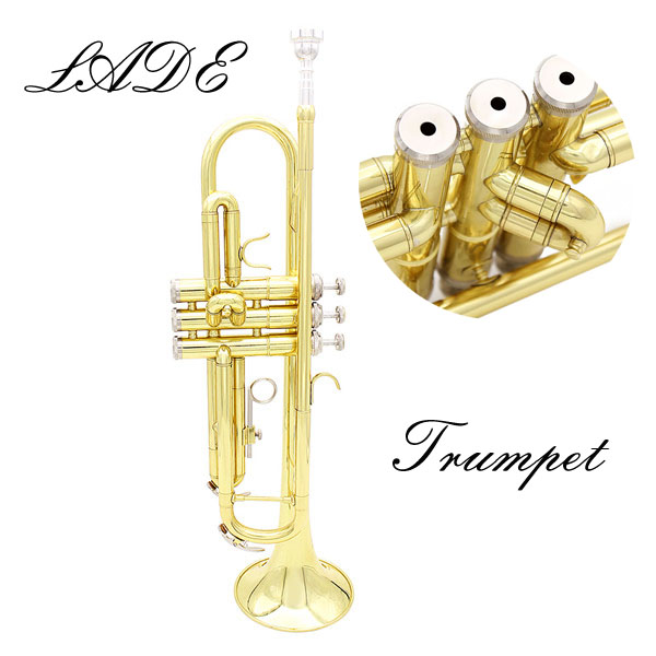 LADE Gold Trumpet Bb b Flat Brass Trumpet With Case & Accessories Musical Instruments