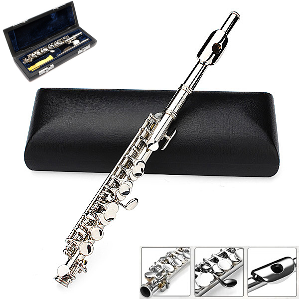 LADE Silver Plated C Piccolo Flute With Case Musical Instruments