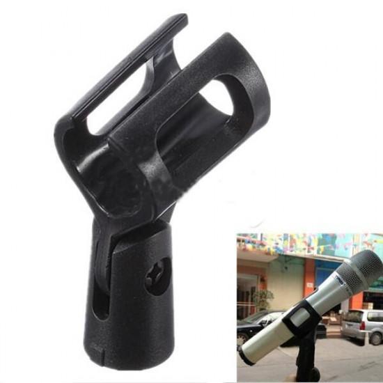 M-6 Microphone Clip Holder Plastic Clamp Basic Gear Black 2021