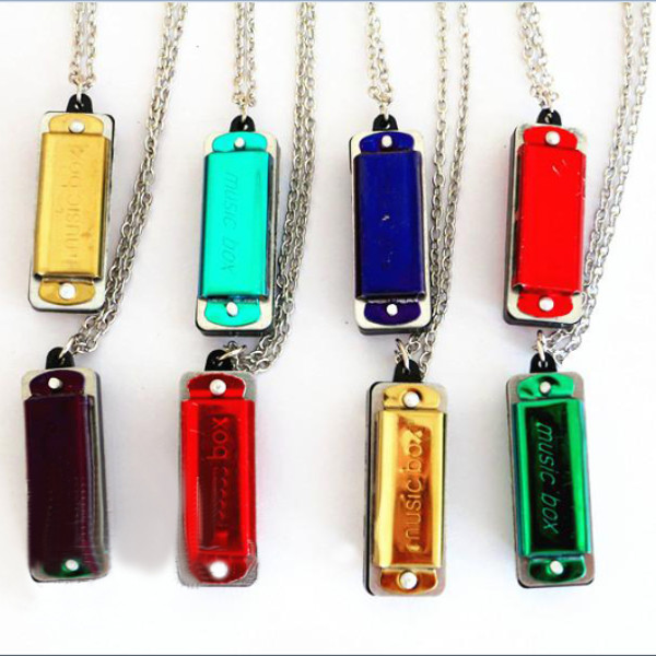 MUSIC-BOX Of C Necklace Style Mini Harmonica with 4 hole 8 tone Musical Instruments