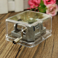 Mini Acrylic Music Box of Fur Elise / Castle in the Sky / Canon