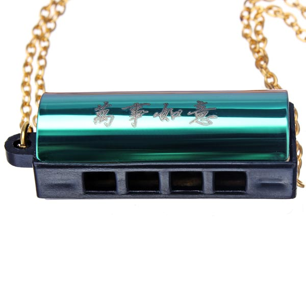 Mini Necklace Echo Harmonica 4 Holes 8 Tones 6 Color Hanging Gift Musical Instruments