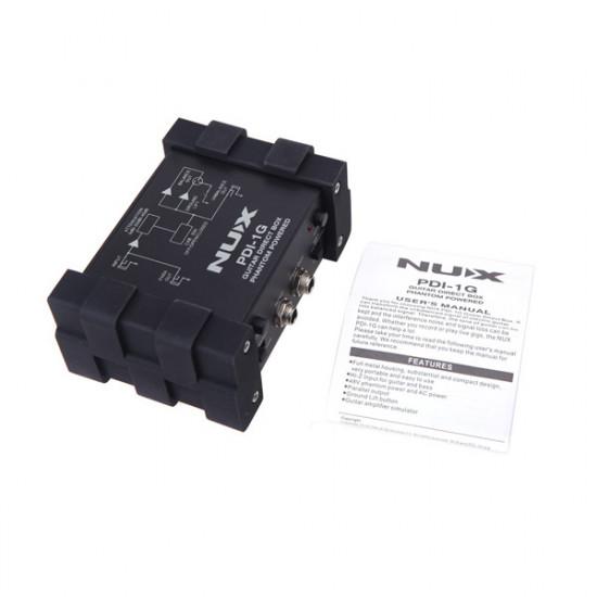 NUX PDI-1G Guitar Direct Injection Phantom Power Box Audio Mixer 2021