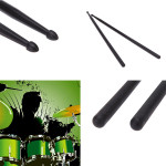 One pair 5A Nylon Material Five Color Drumsticks Musical Instruments