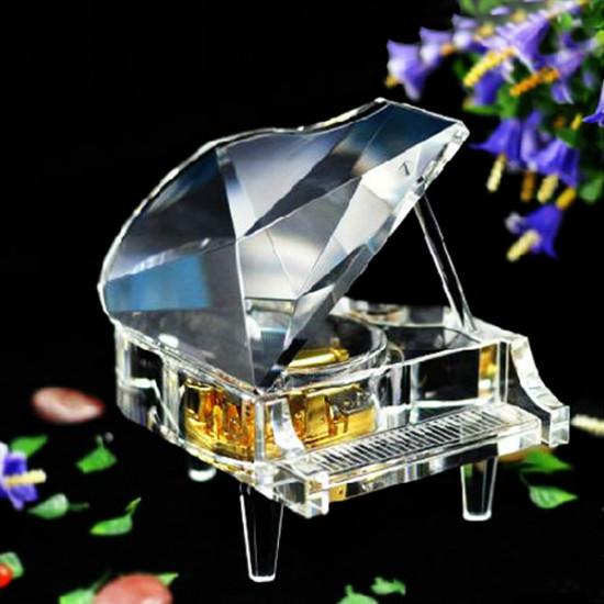 Philco Yunsheng Gold Plated Spiral Spring Crystal Piano Music Box 2021