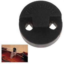 Round Rubber Practice Mute for 3/4 4/4 Violin