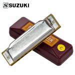 SUZUKI 1072 10 Hole 20 Tone Blues Harmonica A B C D E F G Musical Instruments