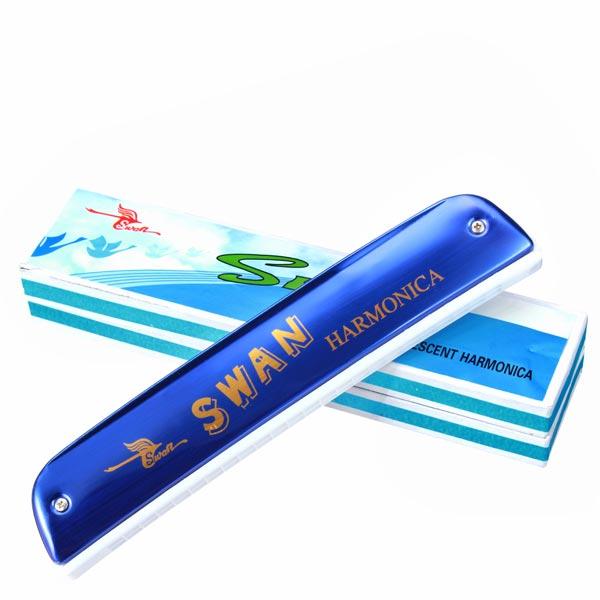 Swan SW24-10 Key Of C 24 Holes Tremolo Harmonica Musical Instruments