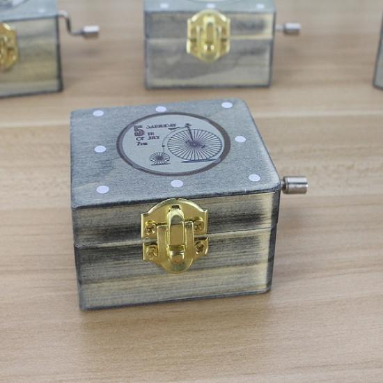 Wood Cranked Music Box Vintage Series 2021