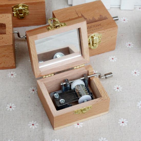 Wood Cranked Music Box World Architecture Series Mu-14001 2021
