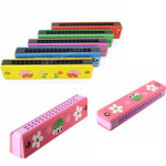 Wooden And Plastic Harmonica Music Toy Instrument for Children Kid Musical Instruments