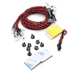12 LED Flashing Light Lines System For RC Airplane Car Models