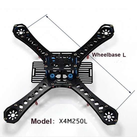 250mm 4-Axis Quadcopter Frame Kit Landing Skid Glass Fiber Carbon Fiber 2021