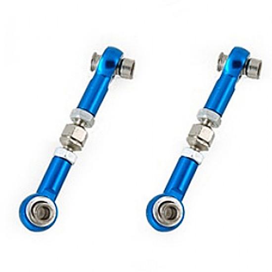 2pcs HSP 122017 Aluminum Alloy Servo Linkages Blue For 1/10 RC Car 2021