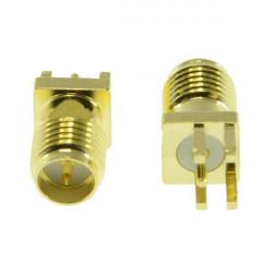 2pcs RP-SMA Female Adapter PCB Edge Mount Solder RF Connector