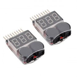 2 x 2 in 1 Lipo Battery Low Voltage Tester 1S-8S Buzzer Alarm