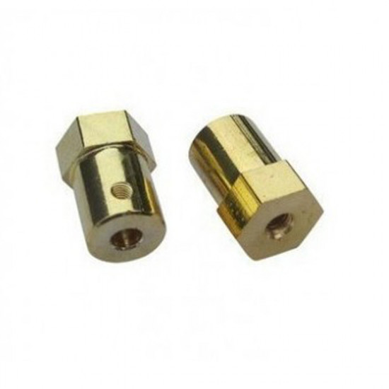 3mm 4mm 5mm 6mm Hex DC Gear Motor Connector For RC Cars 2021