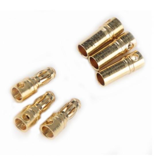 3x Gold Plated Bullet Banana Connector Plug For ESC Battery Motor 2021