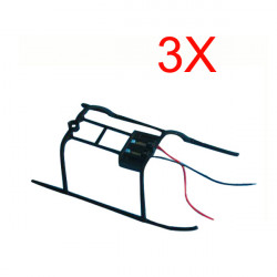 3 x V911 4CH Single Blade RC Helicopter Spare Parts Landing Skids