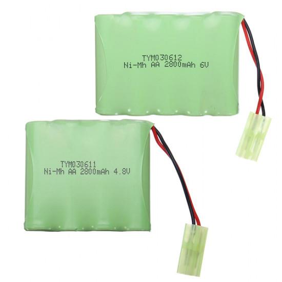 4.8V/6V/7.2V/9.6V 2800mah Ni-MH Rechargeable Battery Pack 2021