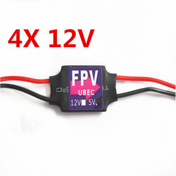 4X DC-DC Converter Step Down Module 3A 12V Mini BEC For RC Plane FPV