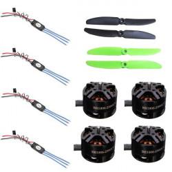 4XDYS 10A 2-3S ESC+4XDYS BE1806 2300KV motor+1XGemfan 5030 Propeller Set