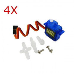 4 X TowerPro SG50 0.8kg 5g Plastic Gear Digital Micro Servo For RC Airplane
