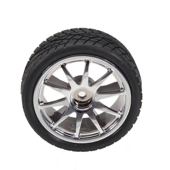 65mm Rubber Tire With Sponge Liner For 1:10 Smart Car Robot 2021
