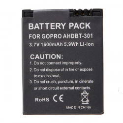 AHDBT-301 3.7V 1600mAh Li-ion Battery For Gopro Hero 3 Camera