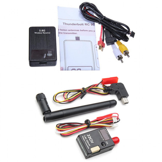 Boscam FPV 32CH 5.8G 350mW Wireless Transmitter And RC905 RX Receiver 2021