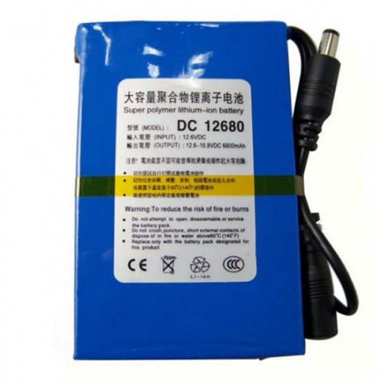 DC 12680 6800mAh Capacity Rechargeable Lithium Battery for CCTV Camera 2021