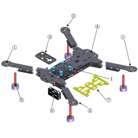DH280 280mm Pure Carbon Mini Quadcopter Multicopter Frame Kit 2021