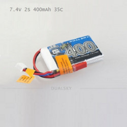 Dualsky 7.4V 2S 400mAh 35C 800mAh 25C EX Li-po Battery For RC Models