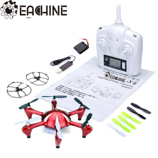 Eachine X6 2.4G 4CH 6 Axis RC Hexacopter With 2MP Camera RTF 2021