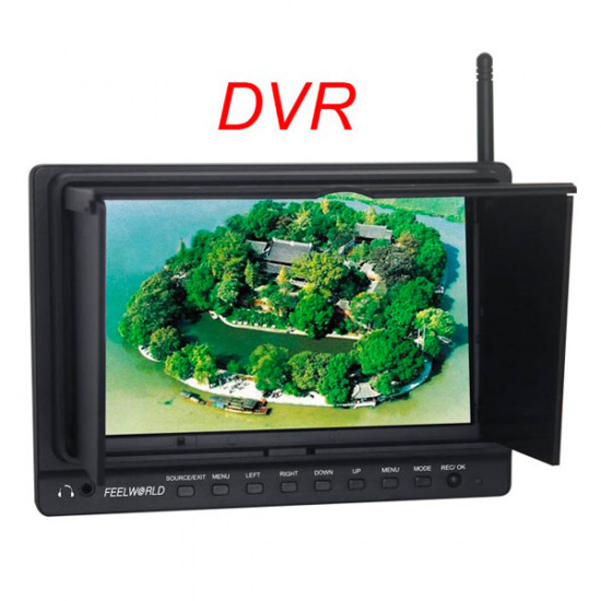 FEELWORLD PVR-758 7 Inch 5.8G 8CH LCD Monitor With DVR Video 2021