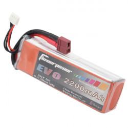 FlowerPower EVO 2200mah 11.1V 25C 3S1P LiPo Battery T Plug For RC Model