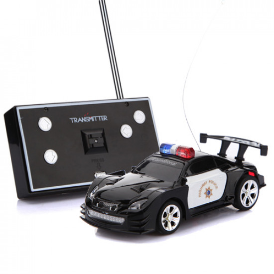 Four Color Mini Remote Control RC Police Car With LED Light 2021