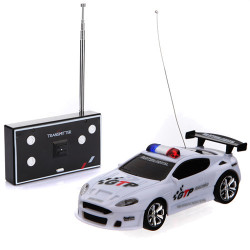 Four Color Mini Remote Control RC Police Car With LED Light