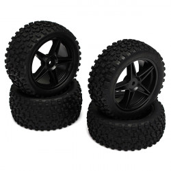 HSP 1:10 12mm Hub Wheel Rim & Tires For RC Off-Road Buggy 66005