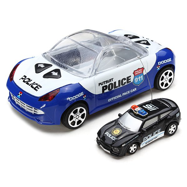 High Speed Mini Remote Control Drift Police Car RC Toys & Hobbies