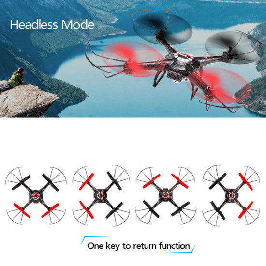 JJRC V686J 2.4G 4CH 6Axis RC Quadcopter with 720P 2.0MP HD Camera RTF 2021